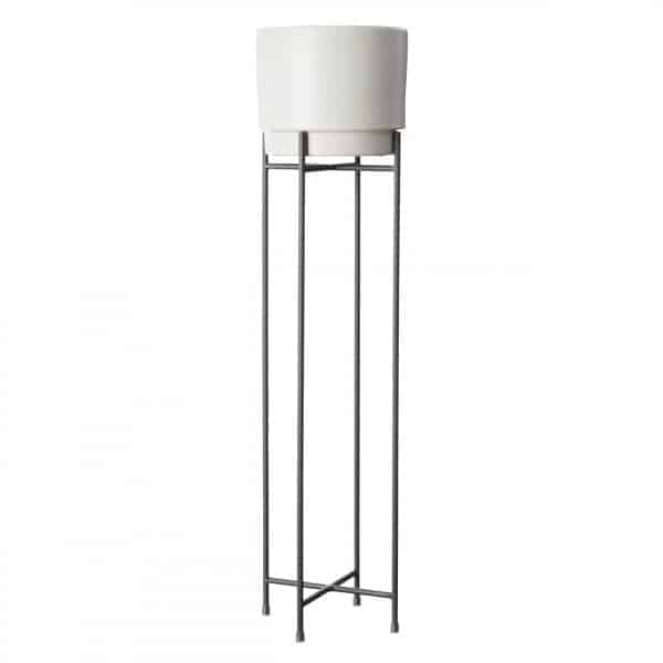 Tall Charcoal plant stand